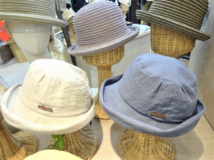 春夏の新作帽子がずらり