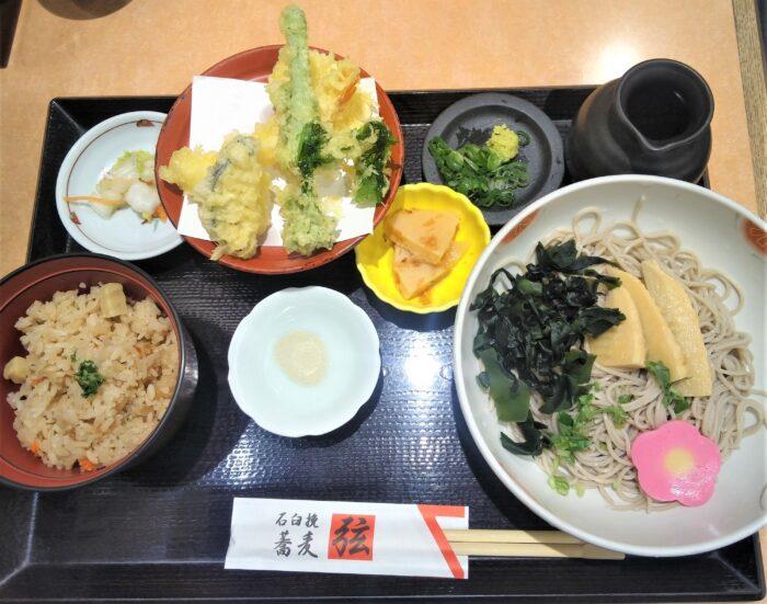 春のおすすめ天ぷら膳